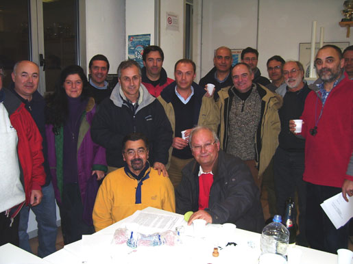 Foto brindisi all'assemblea costitutiva dell'ASD